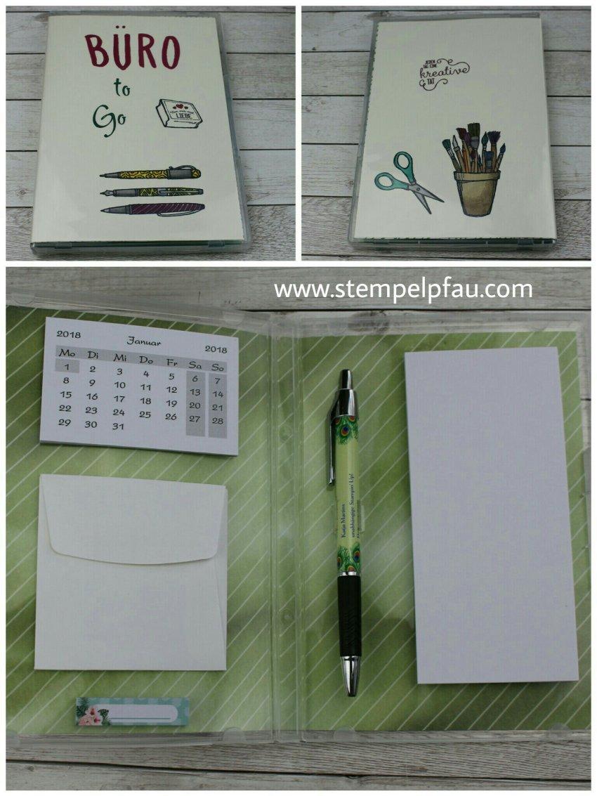 Büro to Go, DIY Projekt coloriert mit den Stampin' Blends von Stampin' Up!