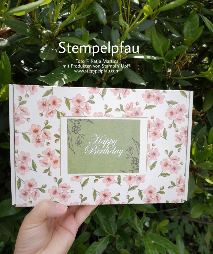 Paper Pumpkin Paket aufgehübscht als Geburtstagsgeschenk