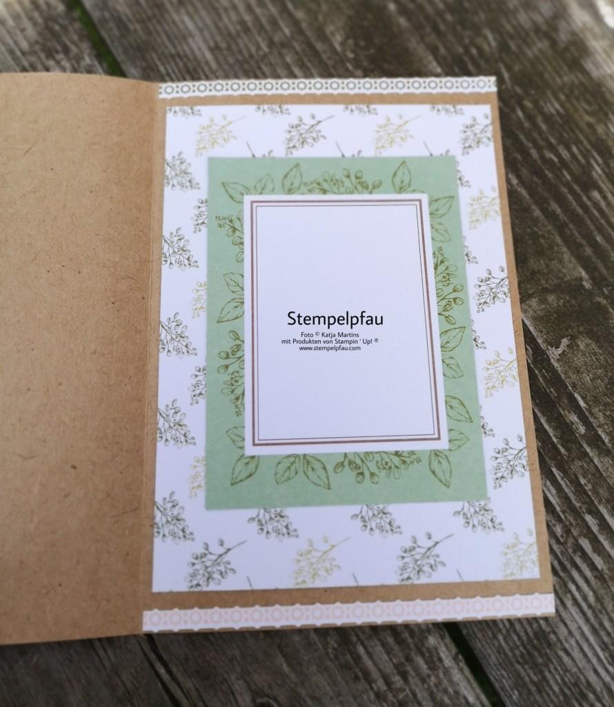 Innenseite Geburtstagskarte mit dem Kartenset Erinnerungen und Mehr Magnolienweg