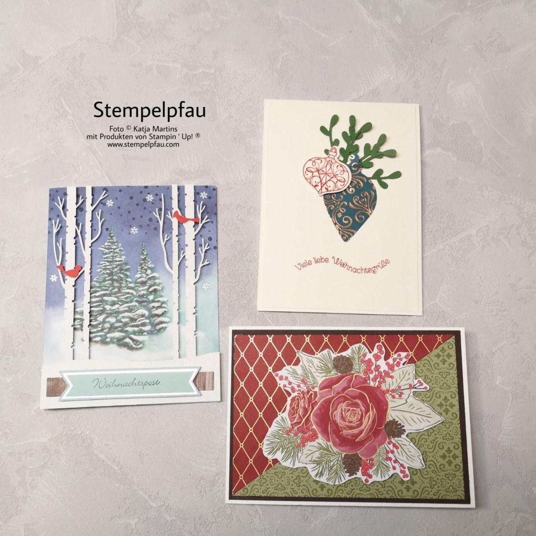 Weihnachtskarten vom Stempelpfau, Kreativ mit Stampin' Up!