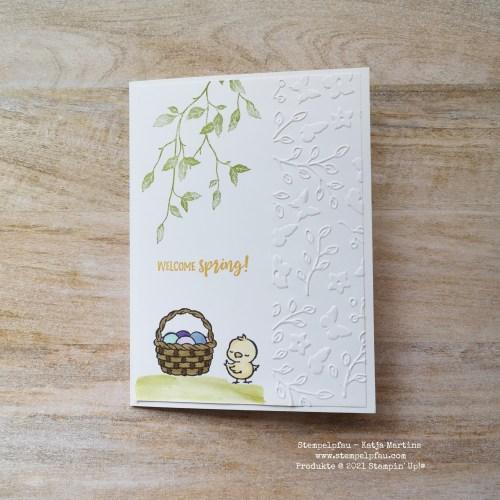 BlogHop Happy Spring, Ostern, Karte, Stampin' Up!, Stempelpfau Frühling