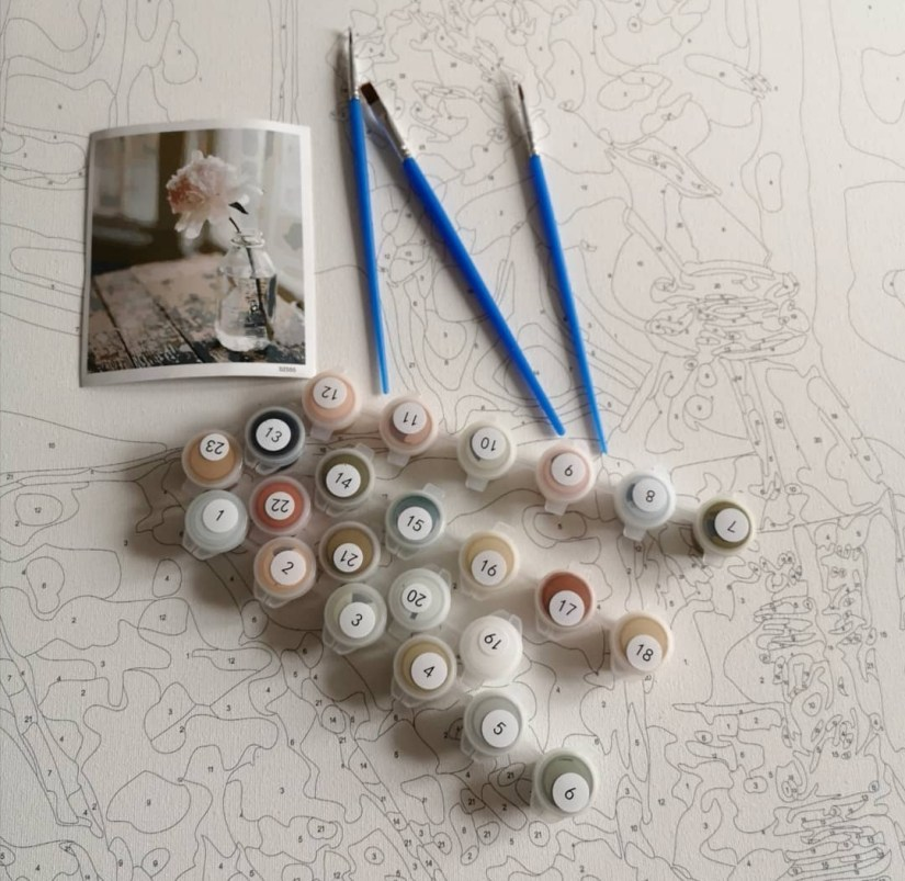 Malen nach Zahlen Bild von DIY Malen nach Zahlen