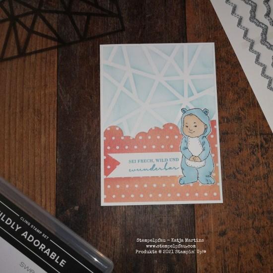 Wildly Adorable und Designerpapier Pfirsich