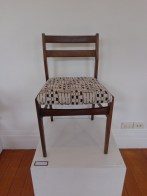 'St John Street' (pre-loved chair, stenciled print, embroidery) 2013
