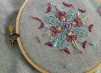 Embroidery and cross stitch (Dublin linen with perle thread) 2015