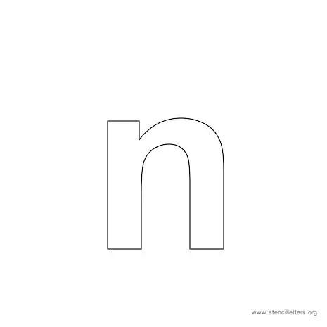 Lowercase N Bubble Letter