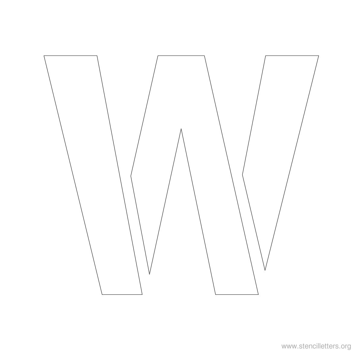 Large Alphabet Stencil Letters Style 1