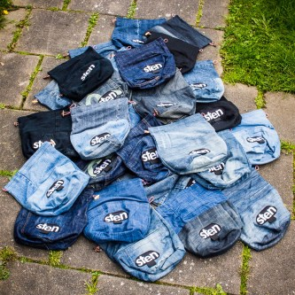 Sten boulder bags - reused old denim