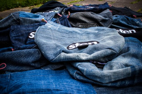 Sten boulder bags made from old jeans