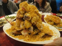 mountain of dry lobster