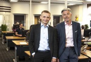 Den nyfusionerede Nordjyske Bnks nye nr. 1 og kommende nr. 2 Claus Andersen og Carl Pedersen mener at fusionen specielt har styrket  bankens erhvervsafdeling.