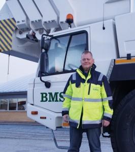 BMS divisionschef for lastbillifte glæder sig til manifestationen på fredag - og særligt til at konkurrere på det europæiske marked fremover med sine kæmpestore køretøjer.