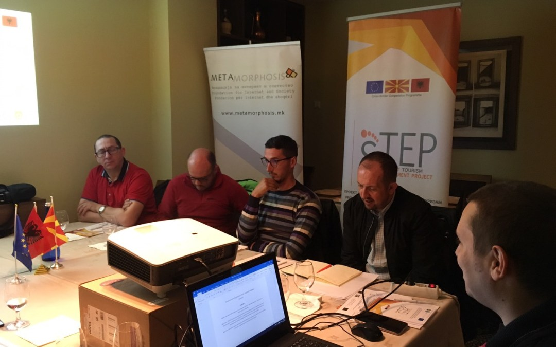 The first focus group for branding the STEP network was held in Tetovo, Macedonia