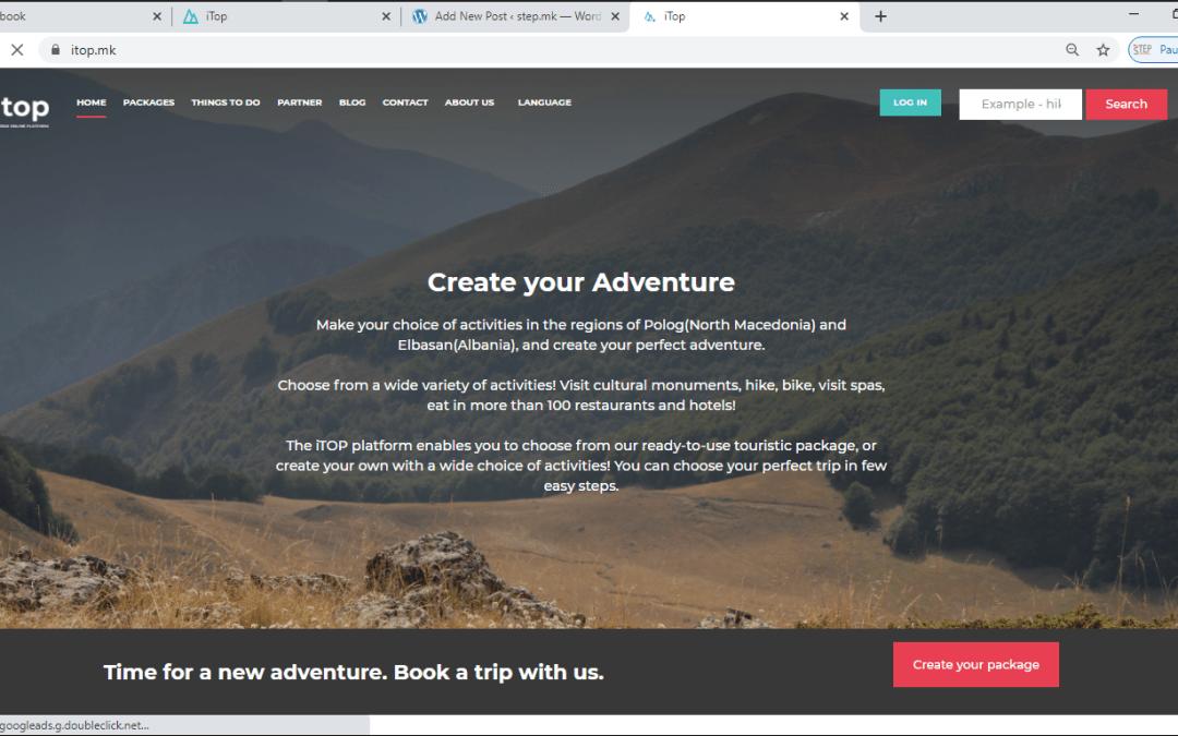 Online презентација на туристичката платформа itop.mk/itop.al пред членките на СТЕП мрежата