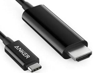 USB C to HDMIケーブル