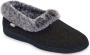 ACORN Women's Faux fur chinchilla Collar Slipper Thumb