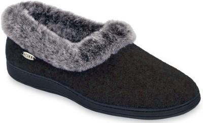 ACORN Women's Faux fur chinchilla Collar Slipper Review