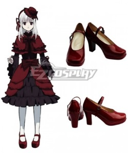 red heeled cosplay shoes