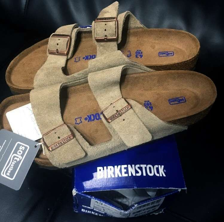 Birkenstock Unisex Arizona 2-Strap Cork Footbed Sandal Taupe