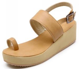 wedge-apricot sandal