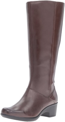 Clarks Women's Malia Skylar Wide Shaft Riding Boot
