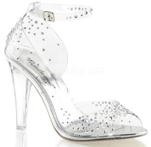 sparkling heeled sandal