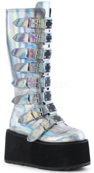 high boot with clasps