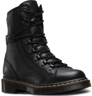 Dr. Martens Women's Coraline in Dark Brown Grizzly Leather Combat Boot Review