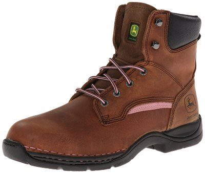 "John Deere Women's 6"" Steel Toe Lace-up Work Boot Review"