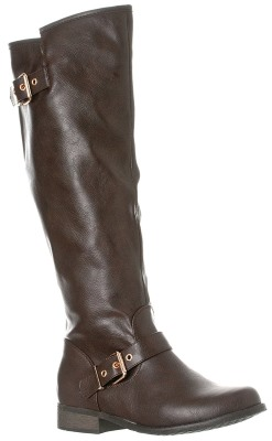 Riverberry Women's Mia Smooth Knee-High Low Heel Riding Boots