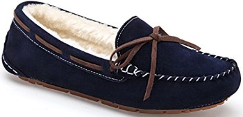 SUNROLAN Women's Winter Flats Suede House Slippers with fur Review
