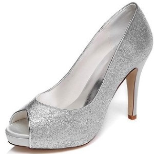 Peep Toe Stiletto Heel With Shimmerin Powder
