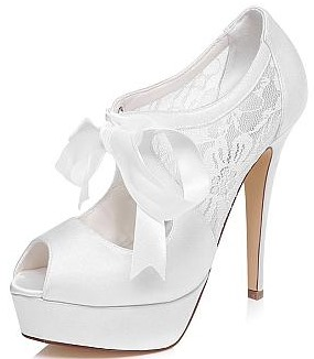 Peep Toe Stiletto wedding Heel