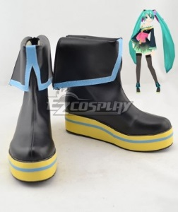 black wedge cosplay boots