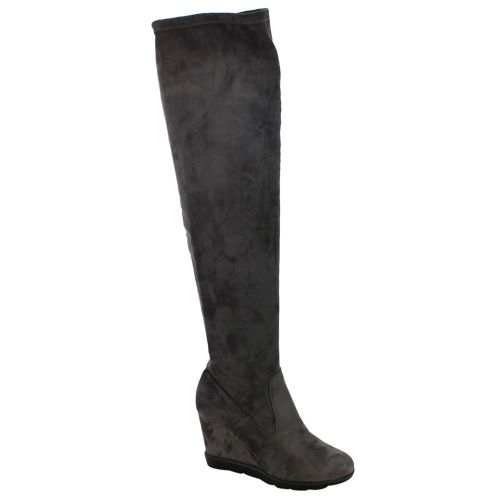 BETANI FD01 Women's Stretchy Over The Knee Platform Wedge Boots