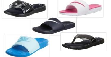 Nike slide sandals collage