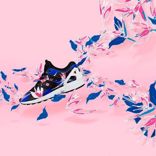 sneaker on pink background