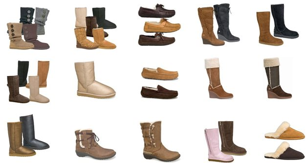 variety of UGG shoes
