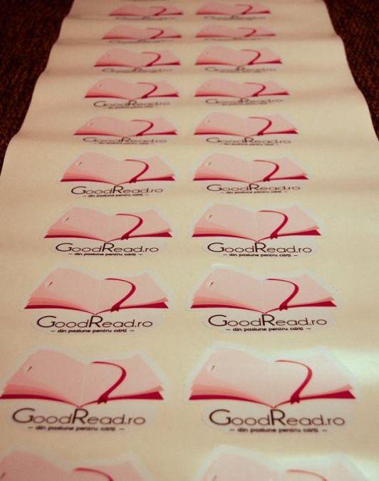 GoodRead.ro face Branding folosind Stickere Personalizate de la stickere.net
