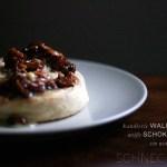 kandierte Walnuss-weiße Schokolade-Schnecken-Remix