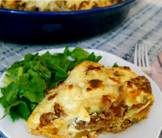Low Carb Moussaka A Delicious Version Of The Classic Greek Dish Lchf Recipe