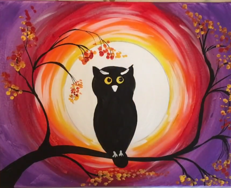 how to paint an owl step by step acrylic painting tutorial