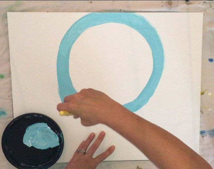 easy canvas paintings for beginners step by step