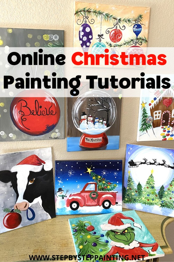 Easy Christmas Paintings Step By Painting With Tracie Kiernan