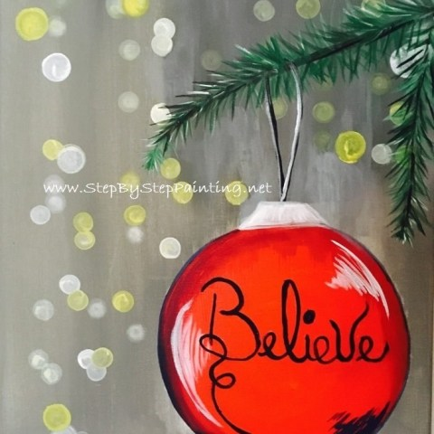 How To Paint Ornament with Blurry Lights