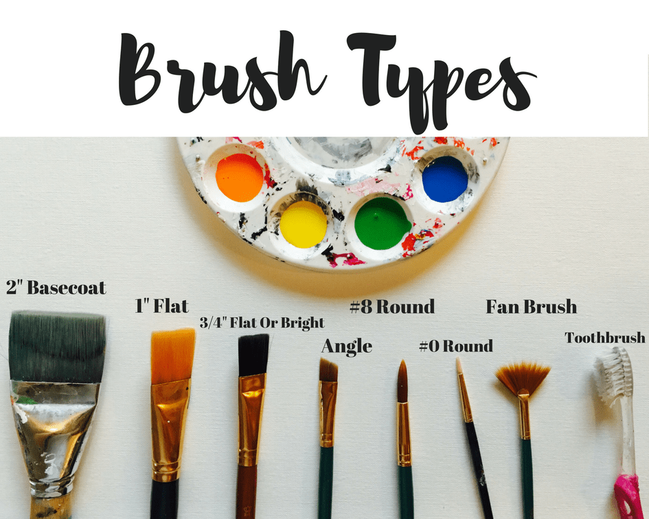 The above graphic is by no means a list of all the brushes that exist! I left out the filbert brush which is like a flat but has a rounded tip.
