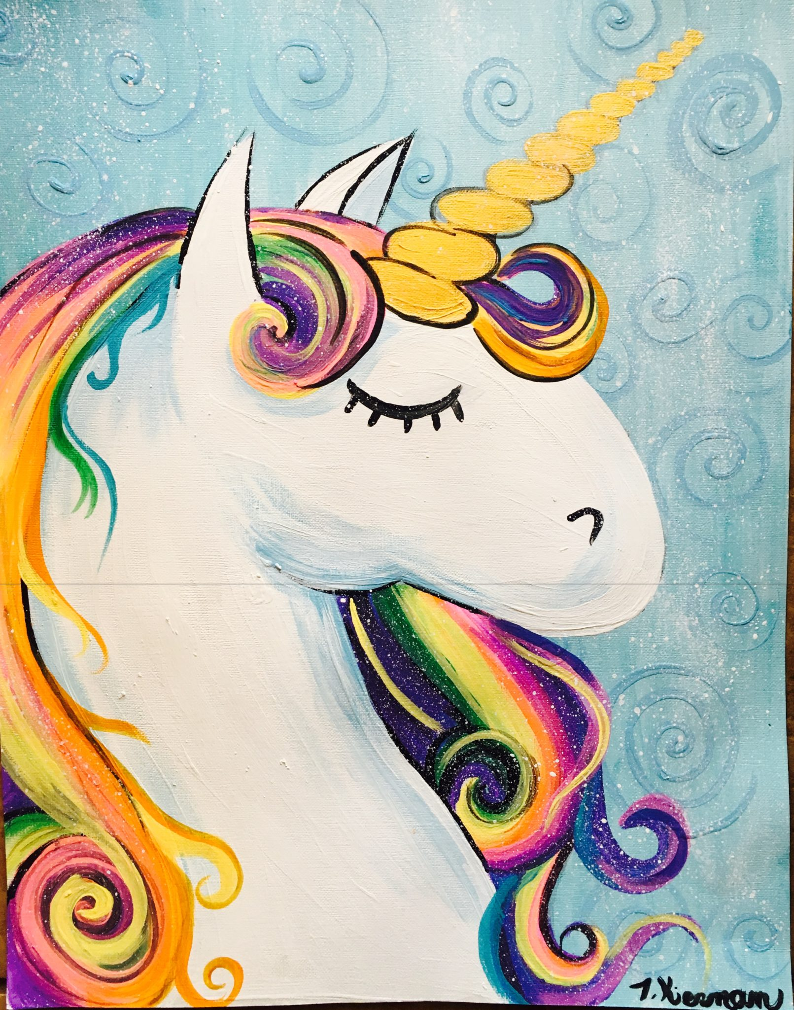Step By Ways To Do Your Eye Makeup: How To Paint A Rainbow Unicorn