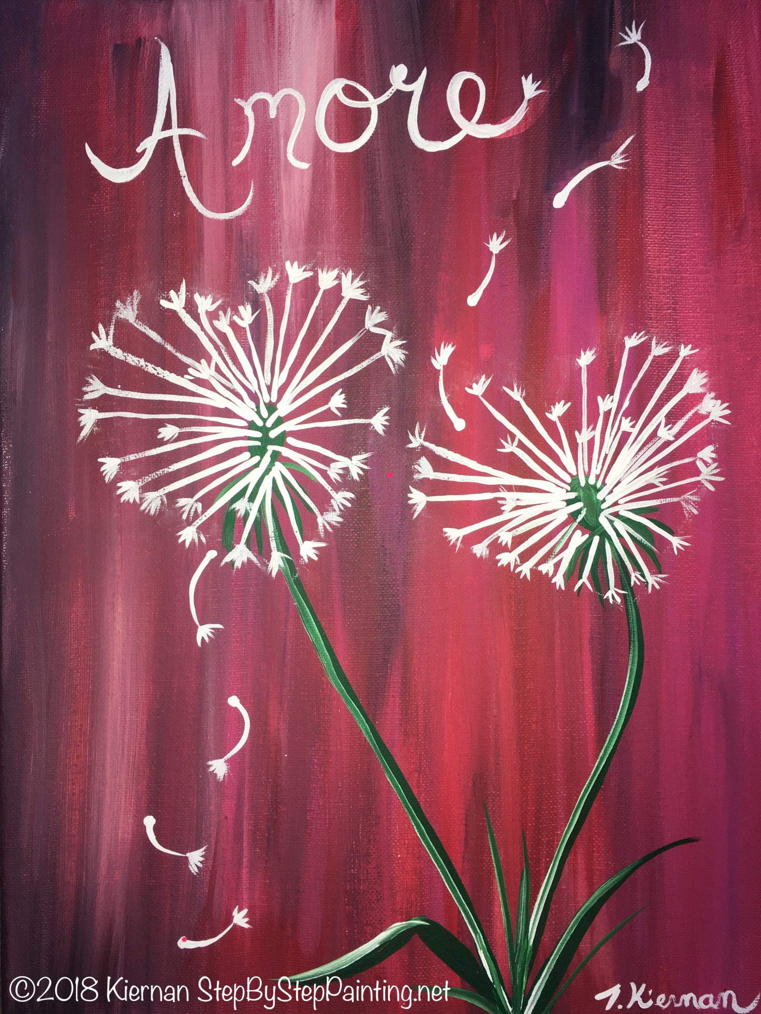 Step By Step Painting - Tracie's Acrylic Canvas Tutorials - photo#44