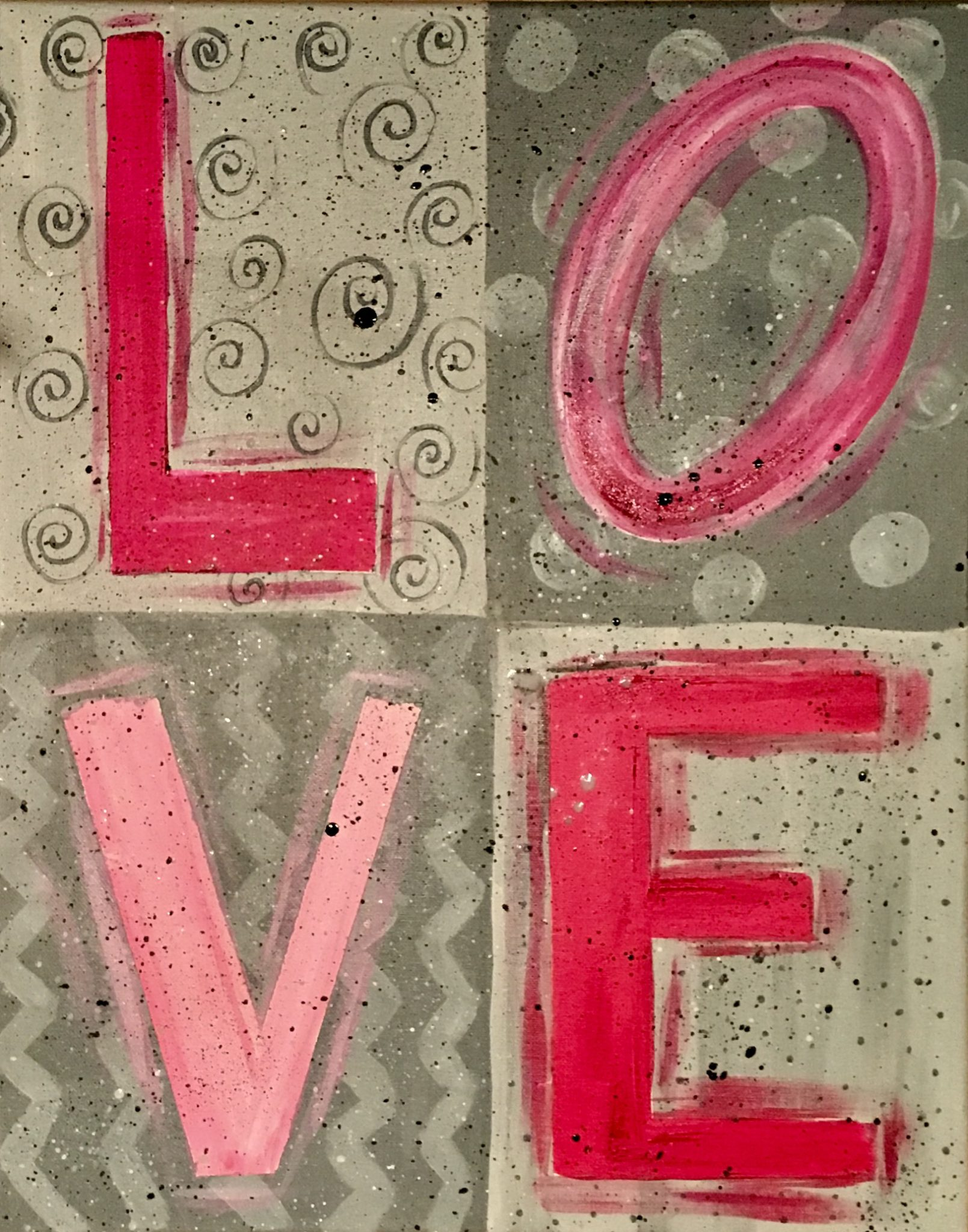 Step By Step Painting - Tracie's Acrylic Canvas Tutorials - photo#12