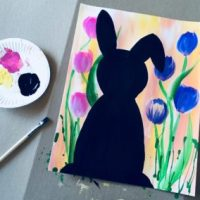 How To Paint An Easter Bunny Silhouette